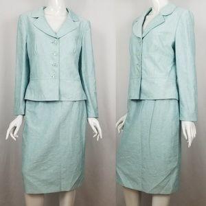 Tahari Patterned Skirt Suit